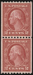 Sale Number 946, Lot Number 1115, 1917-19 Issues (Scott 481-524)2c Carmine, Ty. II, Coil (487), 2c Carmine, Ty. II, Coil (487)