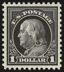 Sale Number 946, Lot Number 1153, 1917-19 Issues (Scott 481-524)$1.00 Violet Brown (518), $1.00 Violet Brown (518)