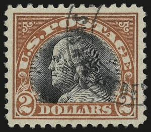 Sale Number 946, Lot Number 1157, 1917-19 Issues (Scott 481-524)$2.00 Orange Red & Black (523), $2.00 Orange Red & Black (523)