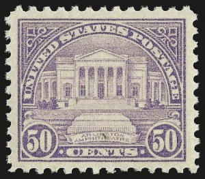 Sale Number 946, Lot Number 1190, 1922-29 Issues (Scott 551-621)50c Lilac (570), 50c Lilac (570)