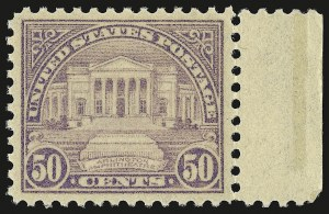Sale Number 946, Lot Number 1191, 1922-29 Issues (Scott 551-621)50c Lilac (570), 50c Lilac (570)
