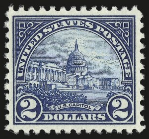 Sale Number 946, Lot Number 1193, 1922-29 Issues (Scott 551-621)$2.00 Deep Blue (572), $2.00 Deep Blue (572)