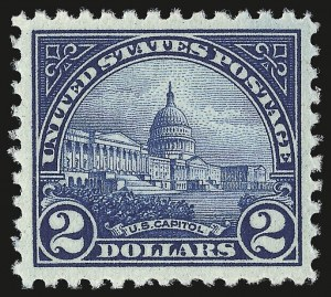 Sale Number 946, Lot Number 1194, 1922-29 Issues (Scott 551-621)$2.00 Deep Blue (572), $2.00 Deep Blue (572)