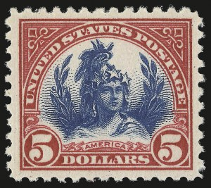 Sale Number 946, Lot Number 1200, 1922-29 Issues (Scott 551-621)$5.00 Carmine & Blue (573), $5.00 Carmine & Blue (573)
