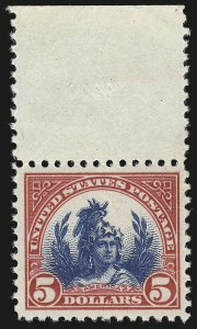 Sale Number 946, Lot Number 1202, 1922-29 Issues (Scott 551-621)$5.00 Carmine & Blue (573), $5.00 Carmine & Blue (573)