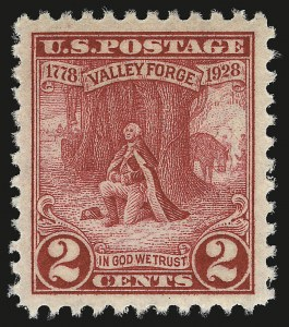 Sale Number 946, Lot Number 1258, 1925 and Later Issues (Scott 622-later)2c Valley Forge (645), 2c Valley Forge (645)