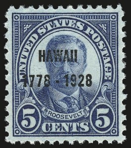 Sale Number 946, Lot Number 1261, 1925 and Later Issues (Scott 622-later)5c Hawaii Ovpt. (648), 5c Hawaii Ovpt. (648)