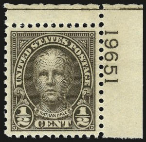 Sale Number 946, Lot Number 1264, 1925 and Later Issues (Scott 622-later)-1/2c Olive Brown (653), -1/2c Olive Brown (653)