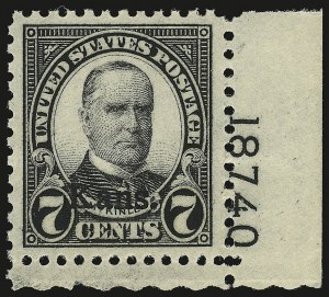 Sale Number 946, Lot Number 1270, 1925 and Later Issues (Scott 622-later)7c Kans. Ovpt. (665), 7c Kans. Ovpt. (665)