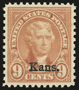 Sale Number 946, Lot Number 1274, 1925 and Later Issues (Scott 622-later)9c Kans. Ovpt. (667), 9c Kans. Ovpt. (667)
