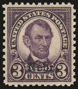 Sale Number 946, Lot Number 1281, 1925 and Later Issues (Scott 622-later)3c Nebr. Ovpt. (672), 3c Nebr. Ovpt. (672)