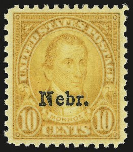 Sale Number 946, Lot Number 1286, 1925 and Later Issues (Scott 622-later)10c Nebr. Ovpt. (679), 10c Nebr. Ovpt. (679)