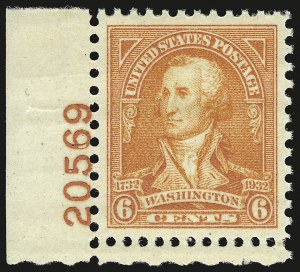 Sale Number 946, Lot Number 1296, 1925 and Later Issues (Scott 622-later)6c Red Orange (711), 6c Red Orange (711)