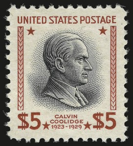 Sale Number 946, Lot Number 1301, 1925 and Later Issues (Scott 622-later)$5.00 Presidential (834), $5.00 Presidential (834)