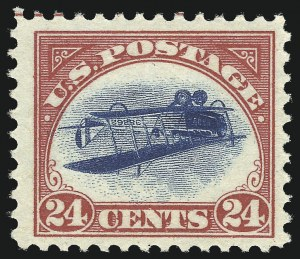 Sale Number 946, Lot Number 1305, Air Post24c Carmine Rose & Blue, Center Inverted (C3a), 24c Carmine Rose & Blue, Center Inverted (C3a)