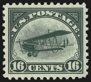 Sale Number 946, Lot Number 1307, Air Post16c Green, 1918 Air Post (C2), 16c Green, 1918 Air Post (C2)