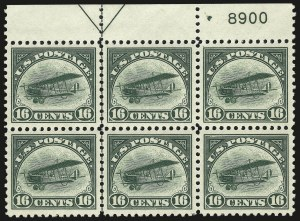 Sale Number 946, Lot Number 1308, Air Post16c Green, 1918 Air Post (C2), 16c Green, 1918 Air Post (C2)
