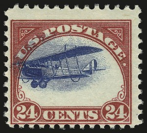 Sale Number 946, Lot Number 1310, Air Post24c Carmine Rose & Blue, 1918 Air Post (C3), 24c Carmine Rose & Blue, 1918 Air Post (C3)
