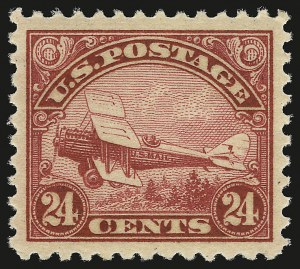 Sale Number 946, Lot Number 1324, Air Post24c Carmine, 1923 Air Post (C6), 24c Carmine, 1923 Air Post (C6)