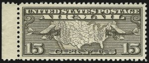 Sale Number 946, Lot Number 1327, Air Post15c Map (C8), 15c Map (C8)