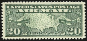 Sale Number 946, Lot Number 1330, Air Post20c Map (C9), 20c Map (C9)