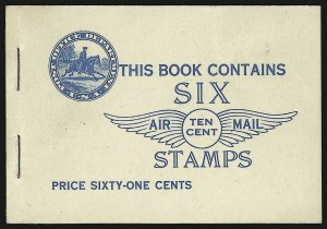 Sale Number 946, Lot Number 1331, Air Post10c Lindbergh, Booklet Pane (C10a), 10c Lindbergh, Booklet Pane (C10a)