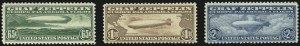 Sale Number 946, Lot Number 1332, Air Post65c-$2.60 Graf Zeppelin (C13-C15), 65c-$2.60 Graf Zeppelin (C13-C15)