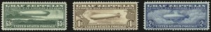 Sale Number 946, Lot Number 1333, Air Post65c-$2.60 Graf Zeppelin (C13-C15), 65c-$2.60 Graf Zeppelin (C13-C15)