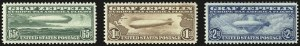 Sale Number 946, Lot Number 1334, Air Post65c-$2.60 Graf Zeppelin (C13-C15), 65c-$2.60 Graf Zeppelin (C13-C15)