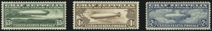 Sale Number 946, Lot Number 1336, Air Post65c-$2.60 Graf Zeppelin (C13-C15), 65c-$2.60 Graf Zeppelin (C13-C15)