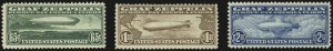 Sale Number 946, Lot Number 1337, Air Post65c-$2.60 Graf Zeppelin (C13-C15), 65c-$2.60 Graf Zeppelin (C13-C15)
