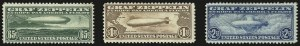 Sale Number 946, Lot Number 1338, Air Post65c-$2.60 Graf Zeppelin (C13-C15), 65c-$2.60 Graf Zeppelin (C13-C15)