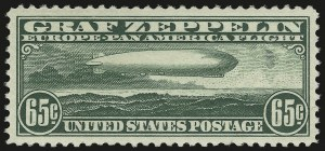 Sale Number 946, Lot Number 1340, Air Post65c Graf Zeppelin (C13), 65c Graf Zeppelin (C13)