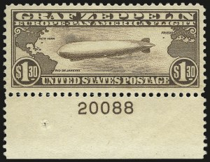 Sale Number 946, Lot Number 1345, Air Post$1.30 Graf Zeppelin (C14), $1.30 Graf Zeppelin (C14)