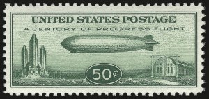 Sale Number 946, Lot Number 1353, Air Post50c Chicago Zeppelin (C18), 50c Chicago Zeppelin (C18)