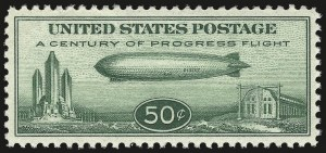 Sale Number 946, Lot Number 1354, Air Post50c Chicago Zeppelin (C18), 50c Chicago Zeppelin (C18)