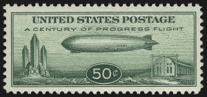 Sale Number 946, Lot Number 1356, Air Post50c Chicago Zeppelin (C18), 50c Chicago Zeppelin (C18)