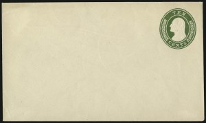 Sale Number 946, Lot Number 1503, Postal Stationery10c Green on White entire, Die 8 (U17; UPSS 27), 10c Green on White entire, Die 8 (U17; UPSS 27)