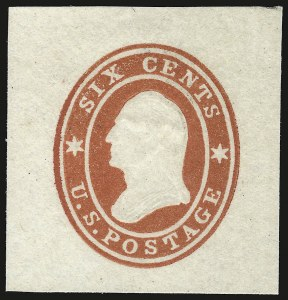 Sale Number 946, Lot Number 1505, Postal Stationery6c Red on White (U30), 6c Red on White (U30)