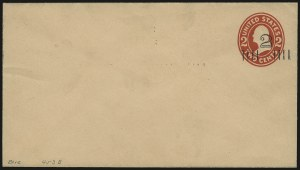 Sale Number 946, Lot Number 1517, Postal Stationery2c on 2c Carmine on Oriental Buff entire, Die 6, Surcharge Ty. 3 (U453C; UPSS 2814), 2c on 2c Carmine on Oriental Buff entire, Die 6, Surcharge Ty. 3 (U453C; UPSS 2814)