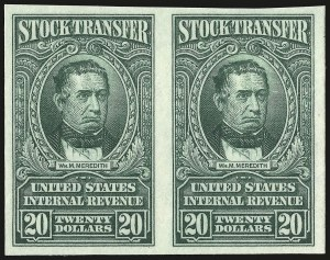 Sale Number 946, Lot Number 1570, Revenues1c-$20.00 Green, Series of 1940, Imperforate and Without Ovpt. (RD67 var-RD85 var), 1c-$20.00 Green, Series of 1940, Imperforate and Without Ovpt. (RD67 var-RD85 var)