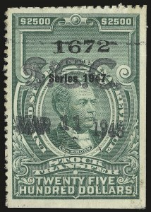 Sale Number 946, Lot Number 1571, Revenues$2,500.00-$10,000.00 Green, Series of 1947 (RD258-RD260), $2,500.00-$10,000.00 Green, Series of 1947 (RD258-RD260)