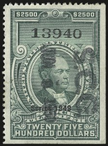 Sale Number 946, Lot Number 1572, Revenues$2,500.00 Green, Series of 1949 (RD310), $2,500.00 Green, Series of 1949 (RD310)