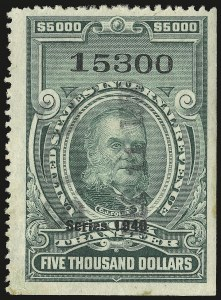 Sale Number 946, Lot Number 1573, Revenues$5,000.00 Green, Series of 1949 (RD311), $5,000.00 Green, Series of 1949 (RD311)