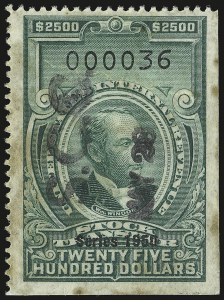 Sale Number 946, Lot Number 1574, Revenues$2,500.00 Green, Series of 1950 (RD336), $2,500.00 Green, Series of 1950 (RD336)