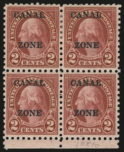 Sale Number 946, Lot Number 1677, Canal Zone1926, 2c Carmine (97), 1926, 2c Carmine (97)
