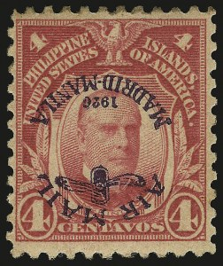 Sale Number 946, Lot Number 1751, Philippines, Other Possessions1926, 4c Carmine, Air Post, Inverted Ovpt. (C2a), 1926, 4c Carmine, Air Post, Inverted Ovpt. (C2a)