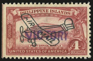 "Sale Number 946, Lot Number 1754, Philippines, Other Possessions1944, 4c Rose Carmine, Air Post, ""Victory"" Ovpt. (C63), 1944, 4c Rose Carmine, Air Post, ""Victory"" Ovpt. (C63)"