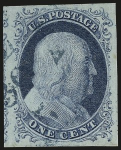 Sale Number 946, Lot Number 176, 1851-56 Issue (Scott 5-17)1c Blue, Ty. II (7), 1c Blue, Ty. II (7)