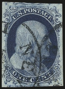 Sale Number 946, Lot Number 179, 1851-56 Issue (Scott 5-17)1c Blue, Ty. II (7), 1c Blue, Ty. II (7)